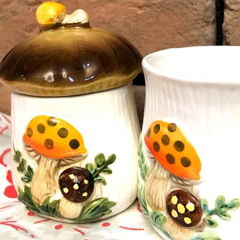 Mushroom Sugar pot & Mug