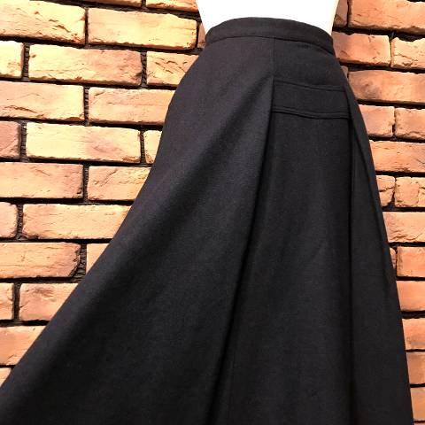 """Herbert Labandter"" Black Wool Skirt"