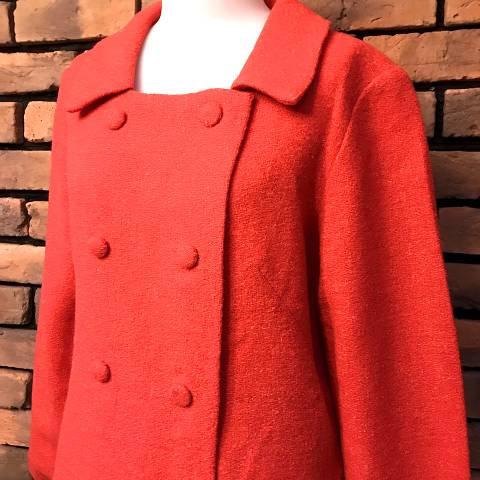 Coral Pink Wool Coat