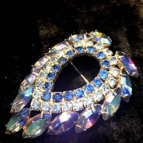 """Sara Conventry"" Rhinestone Drop Brooch"