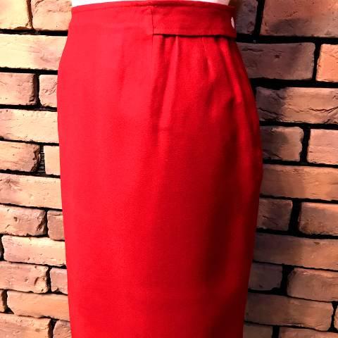 """Bill Atkinson"" Red Wool Skirt"