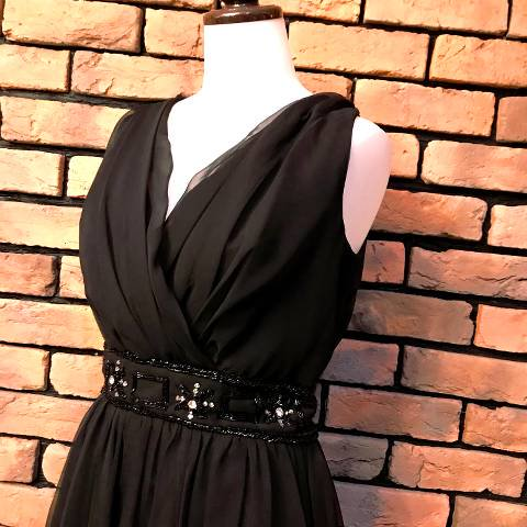 """""""miss Elliette"""" Black Chiffon Dress"""