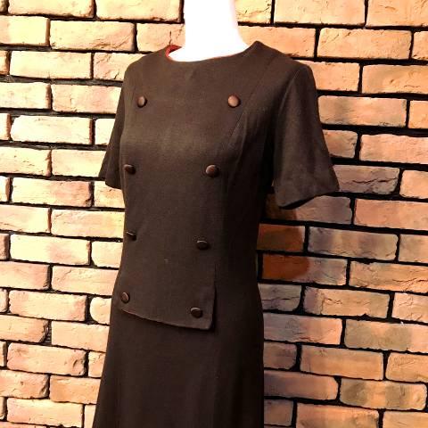 """STACY AMES"" Khaki Knit Mod Dress"