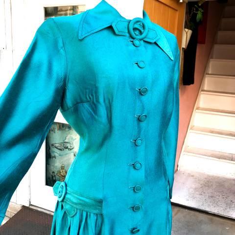 Turquoise 3/4sleeve Dress
