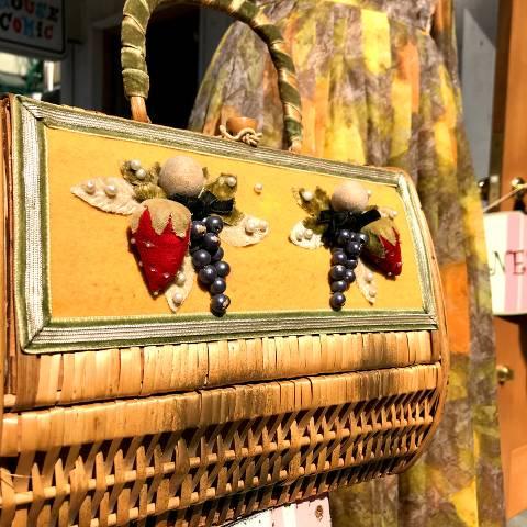 Fruits Wicker Basket Purse
