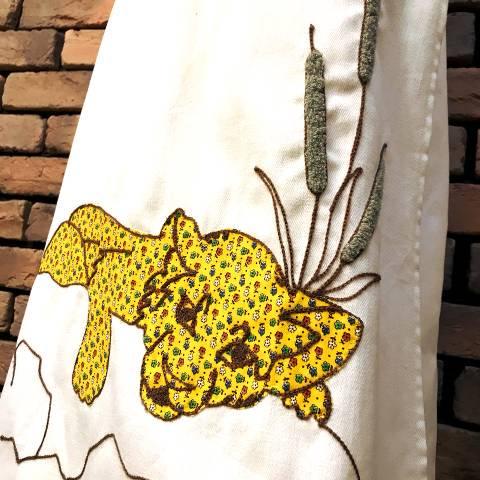 Floral Leopard Wrap Skirt