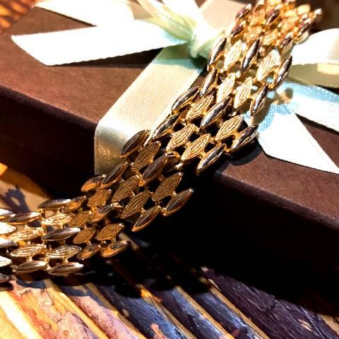 """Sarah Coventry"" Gold Bracelet"