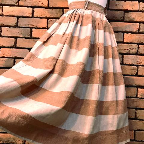 Brown Border Skirt