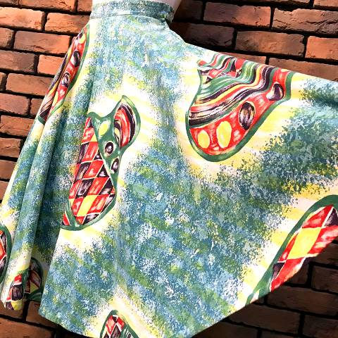 Hand Painted Mexican Skirt