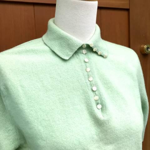 Mint Green Short Sleeve Sweater