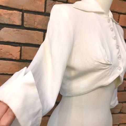 White Linen Bolero