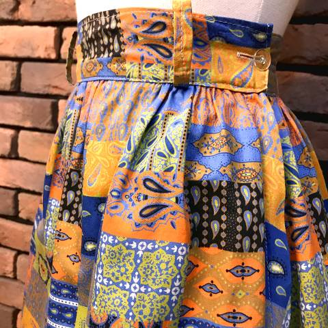 Paisley Patchwork Pattern Skirt
