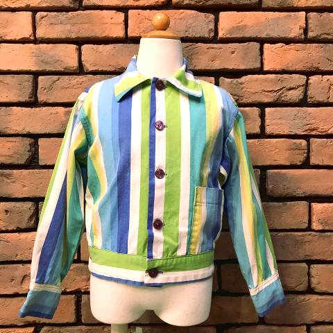 <img class='new_mark_img1' src='//img.shop-pro.jp/img/new/icons26.gif' style='border:none;display:inline;margin:0px;padding:0px;width:auto;' />Kid's Striped Cotton Jacket