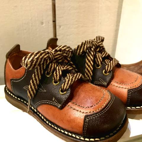 Brown Leather 2Tone Shoes