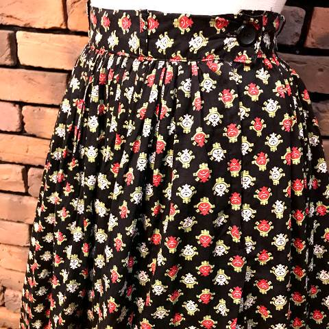 Floral Pattern Cotton Skirt