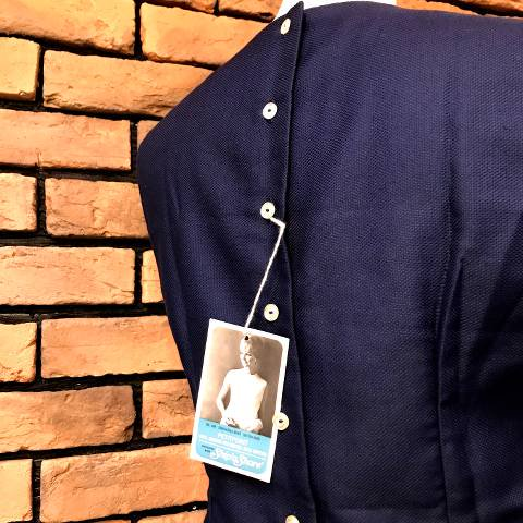 Navy Back Buttons Top