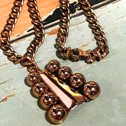 """<img class='new_mark_img1' src='https://img.shop-pro.jp/img/new/icons13.gif' style='border:none;display:inline;margin:0px;padding:0px;width:auto;' />""""Renoir"""" Copper Necklace"""