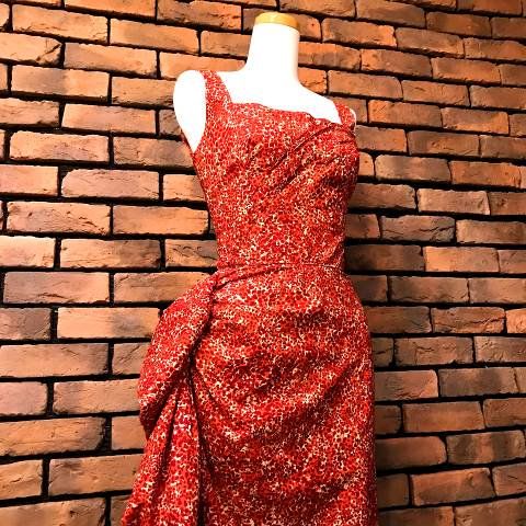 """Edward Abbott"" Red Sarong Dress"