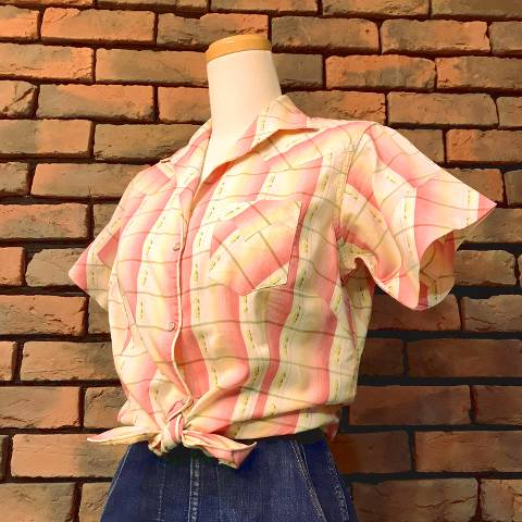 Pink Plaid Western Shirt