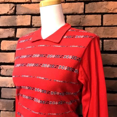 Jacquard Long Sleeve Polo Shirt