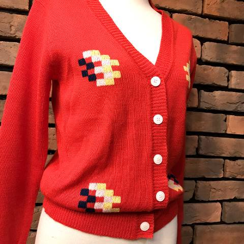 "<img class='new_mark_img1' src='//img.shop-pro.jp/img/new/icons13.gif' style='border:none;display:inline;margin:0px;padding:0px;width:auto;' />""albee"" V-neck Acrylic Cardigan"