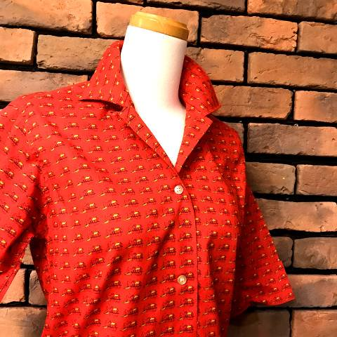 "<img class='new_mark_img1' src='//img.shop-pro.jp/img/new/icons13.gif' style='border:none;display:inline;margin:0px;padding:0px;width:auto;' />""Lady Preston"" Printed Half Sleeve Shirt"