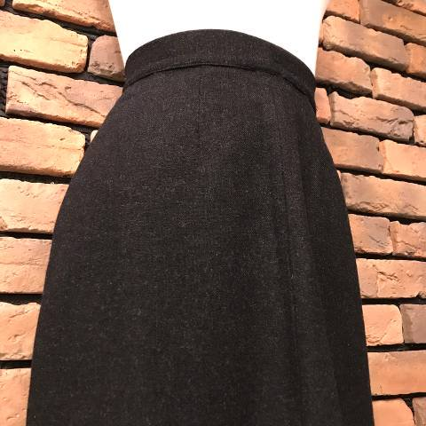 Charcoal Gray Wool Pencil Skirt