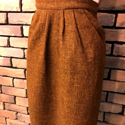 """COLLEGE-TOWN"" Brown Pencil Skirt"