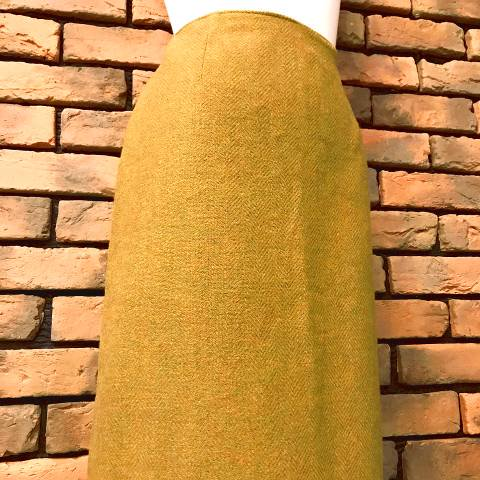 """Douglas Marc"" Mustard Pencil Skirt"