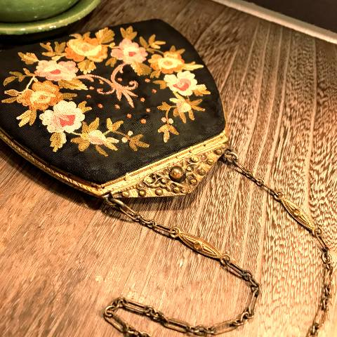 Embroidered Victorian Purse