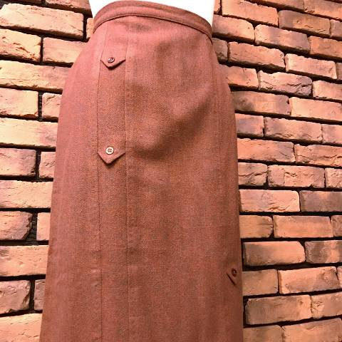 Bordeaux Wool Pencil Skirt