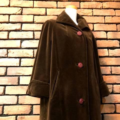 Dark Brown Velveteen Coat