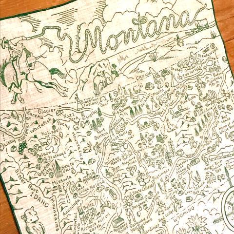 """Montana"" Souvenir Hankie"