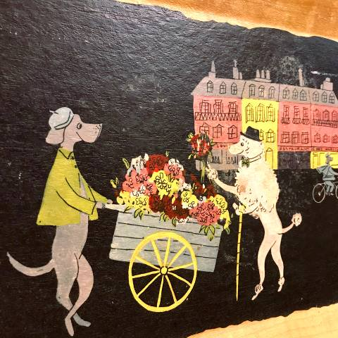 """<img class='new_mark_img1' src='https://img.shop-pro.jp/img/new/icons13.gif' style='border:none;display:inline;margin:0px;padding:0px;width:auto;' />""""Kentley"""" Poodle Tray,Scene3-Inspiration"""