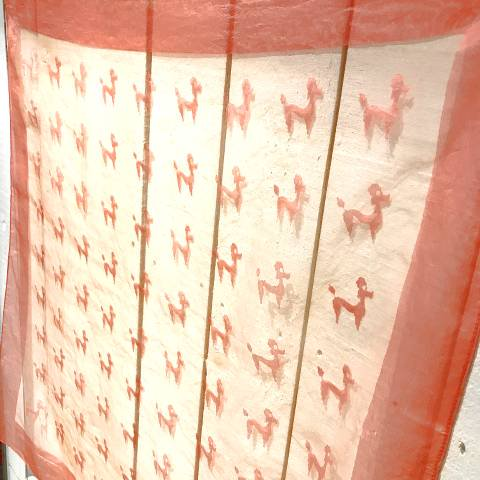 <img class='new_mark_img1' src='https://img.shop-pro.jp/img/new/icons13.gif' style='border:none;display:inline;margin:0px;padding:0px;width:auto;' />Poodle Pink Sheer Scarf