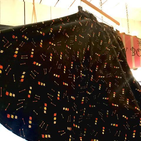 Black Atomic Pattern Skirt