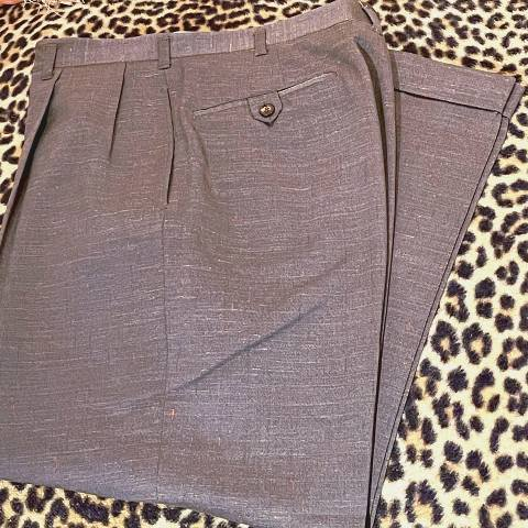 Brown Rayon Flecked Trousers
