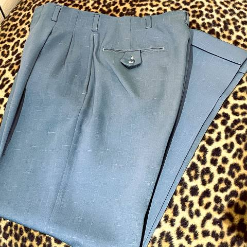 <img class='new_mark_img1' src='https://img.shop-pro.jp/img/new/icons13.gif' style='border:none;display:inline;margin:0px;padding:0px;width:auto;' />Sax Blue Flecked Trousers