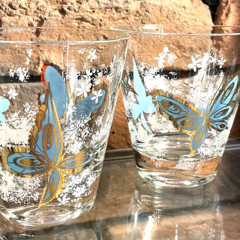 """<img class='new_mark_img1' src='https://img.shop-pro.jp/img/new/icons13.gif' style='border:none;display:inline;margin:0px;padding:0px;width:auto;' />""""Libbey"""" Butterfly Glasses"""