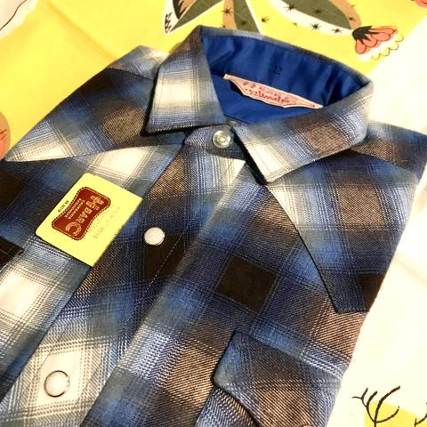 """<img class='new_mark_img1' src='https://img.shop-pro.jp/img/new/icons13.gif' style='border:none;display:inline;margin:0px;padding:0px;width:auto;' />""""H BAR C"""" Western Shirt, Print Flannnel"""
