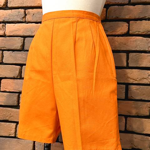 Orange High Waist Short Pants