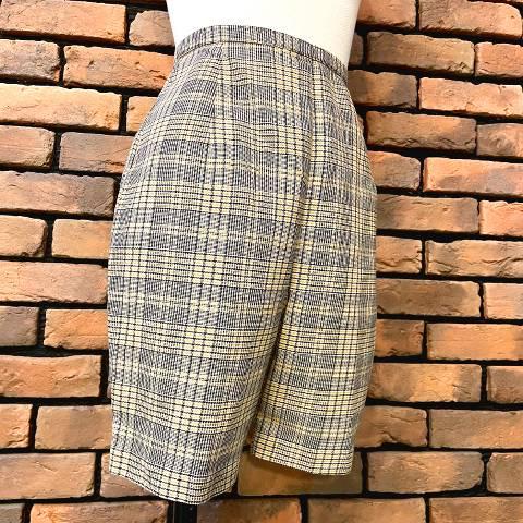 Glen Plaid High Waist Short Pants