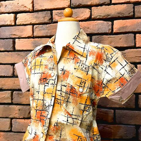 """<img class='new_mark_img1' src='https://img.shop-pro.jp/img/new/icons13.gif' style='border:none;display:inline;margin:0px;padding:0px;width:auto;' />""""H BAR C"""" Western Shirt"""