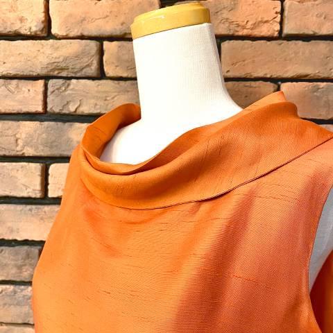 "<img class='new_mark_img1' src='https://img.shop-pro.jp/img/new/icons13.gif' style='border:none;display:inline;margin:0px;padding:0px;width:auto;' />""Robert Allan"" Roll Collar Orange Dress"