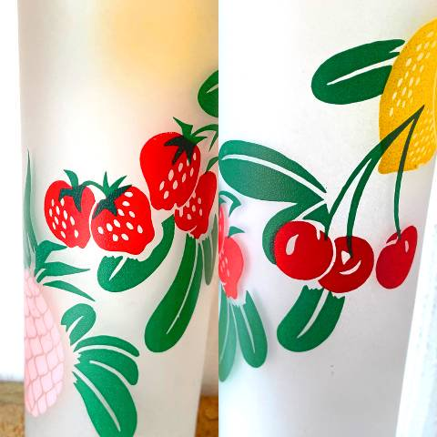 """<img class='new_mark_img1' src='https://img.shop-pro.jp/img/new/icons13.gif' style='border:none;display:inline;margin:0px;padding:0px;width:auto;' />""""Federal"""" Fruits Frosted Glass Tumbler"""