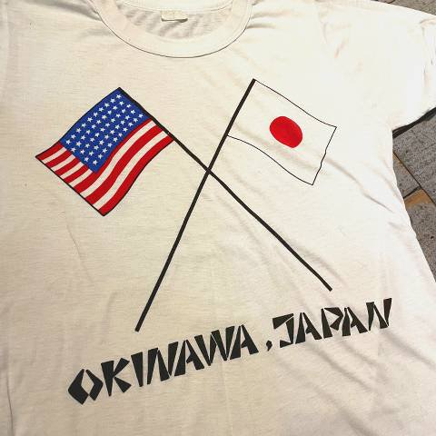 """<img class='new_mark_img1' src='https://img.shop-pro.jp/img/new/icons13.gif' style='border:none;display:inline;margin:0px;padding:0px;width:auto;' />""""Reversion of Okinawa"""" Tee"""