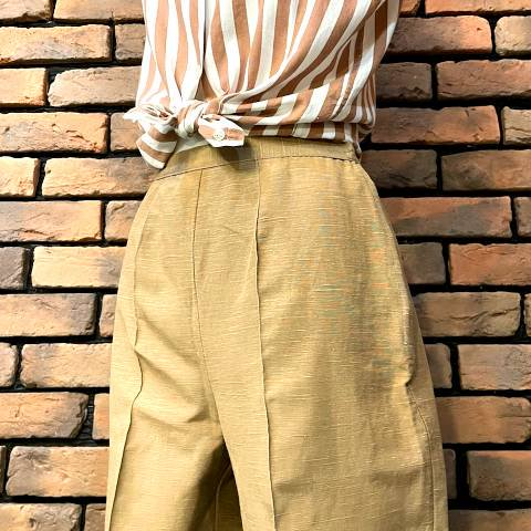 """<img class='new_mark_img1' src='https://img.shop-pro.jp/img/new/icons13.gif' style='border:none;display:inline;margin:0px;padding:0px;width:auto;' />""""WASH'N'WEAR"""" Beige Cigarette Pants"""