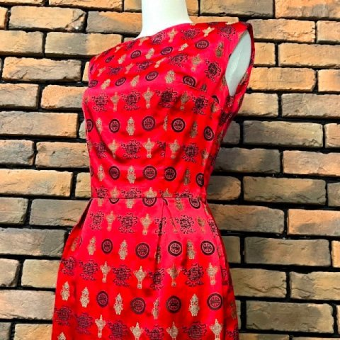 <img class='new_mark_img1' src='https://img.shop-pro.jp/img/new/icons13.gif' style='border:none;display:inline;margin:0px;padding:0px;width:auto;' />Lantern Pattern Brocade Oriental Dress