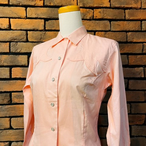 """<img class='new_mark_img1' src='https://img.shop-pro.jp/img/new/icons13.gif' style='border:none;display:inline;margin:0px;padding:0px;width:auto;' />""""H BAR C"""" Pink Western Shirt"""