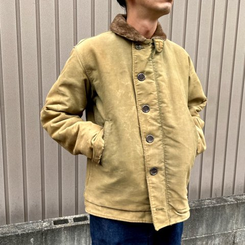 <img class='new_mark_img1' src='https://img.shop-pro.jp/img/new/icons13.gif' style='border:none;display:inline;margin:0px;padding:0px;width:auto;' />1940's N-1 Deck Jacket